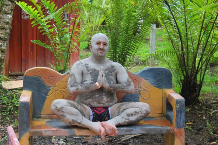 Harris Buddha Mud Bath Costa Rica
