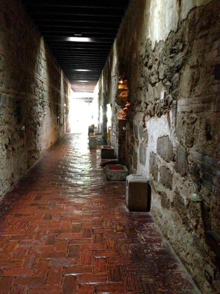 Casa Santo Domingo Hallway Antigua Guatemala