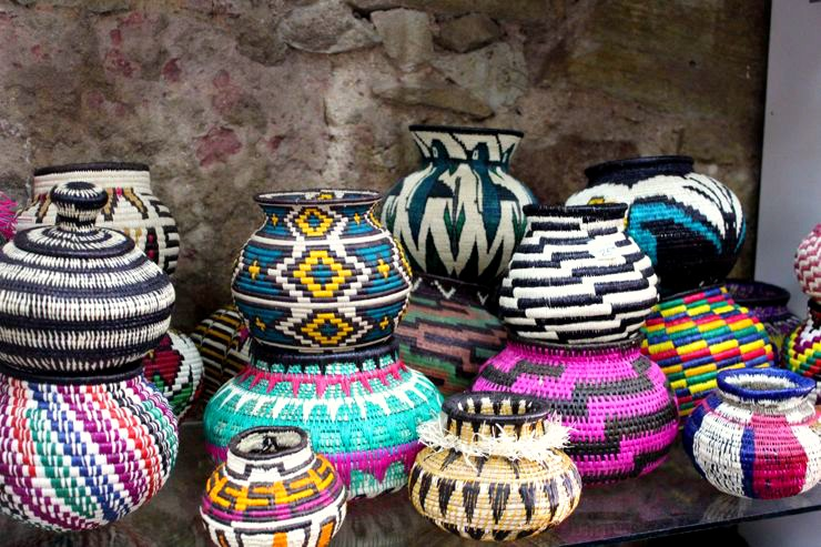 Panama City Shopping Hand Woven Baskets and Bowls