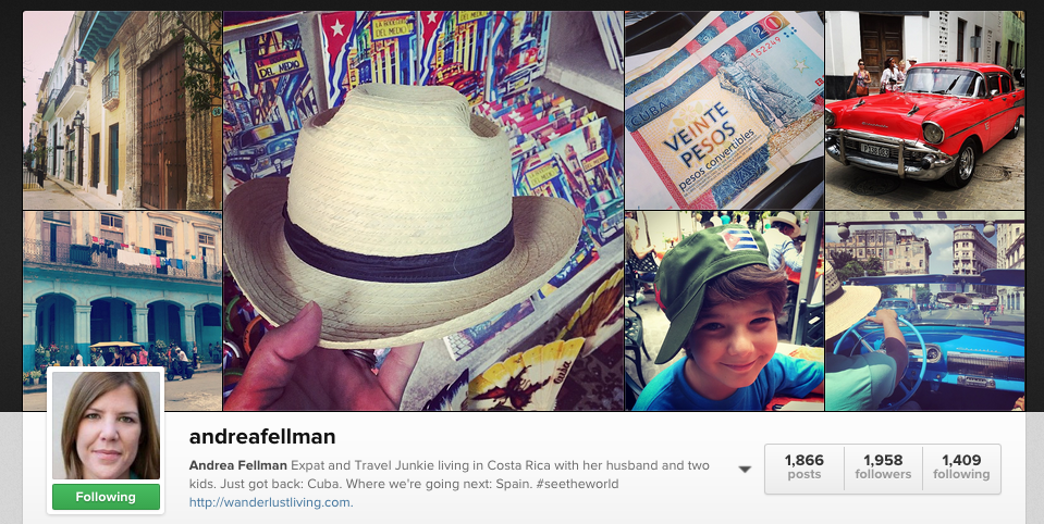 Instagram Andrea Fellman Travels Wanderlust Living