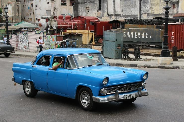 Blue Havana Cuba Cars