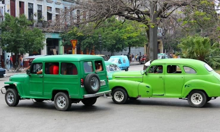Classic Cars in Cuba Havana Green
