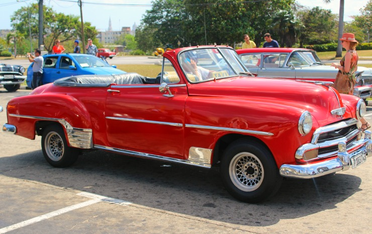 Classic Cars in Cuba Red