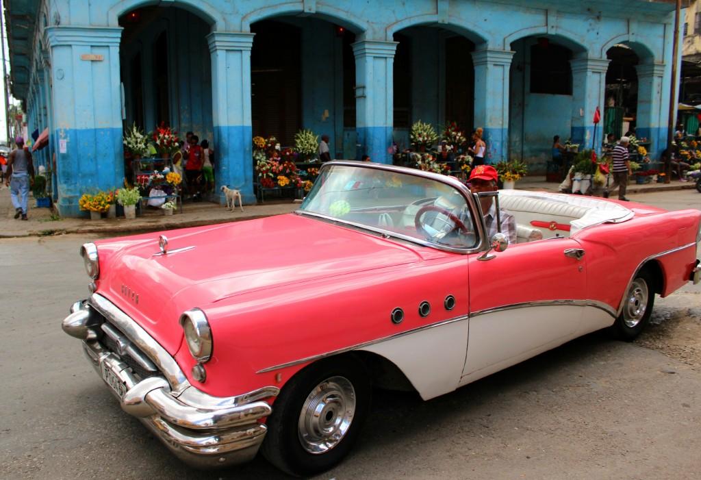 PInk Classic Car in Havana Cuba
