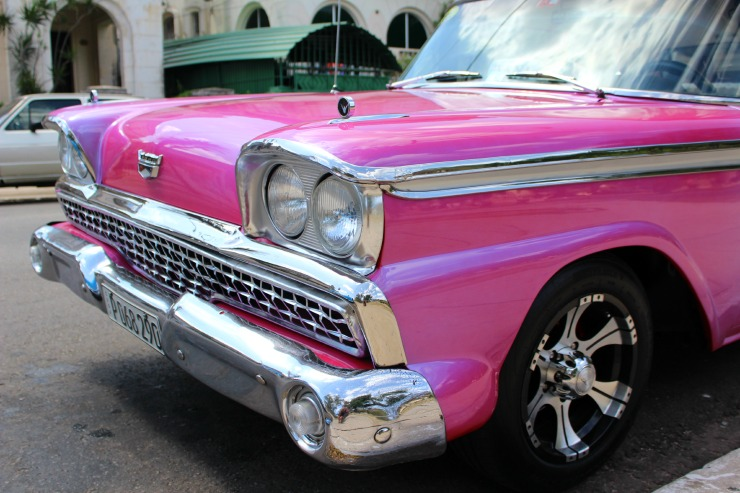 Pink Classic American Cars in Cuba Wanderlust Living