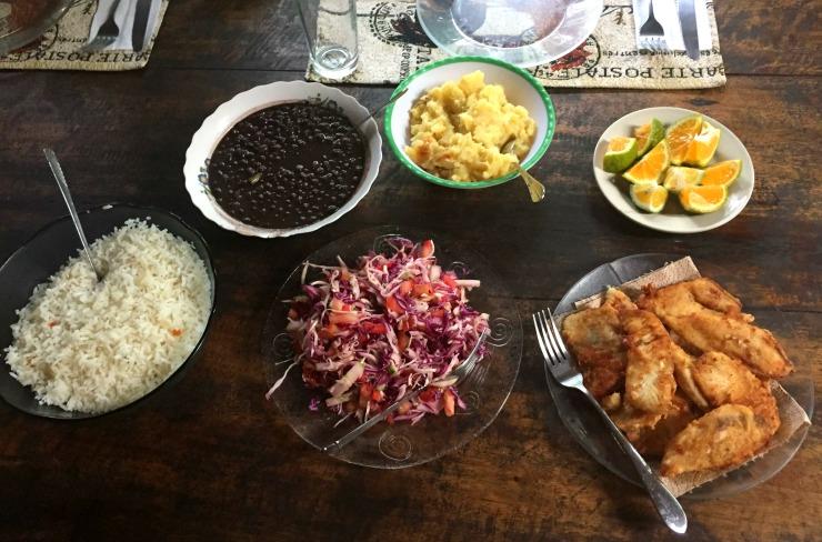 La Carolina Lodge Traditional Costa Rican Food Lunch