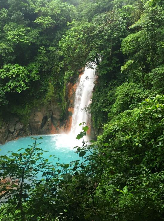 Rio Celeste Waterfall Costa Rica Volcano Tenorio National Park