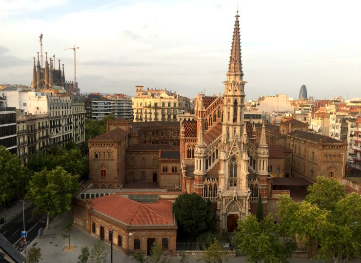 Barcelona view from Apartment Terrace