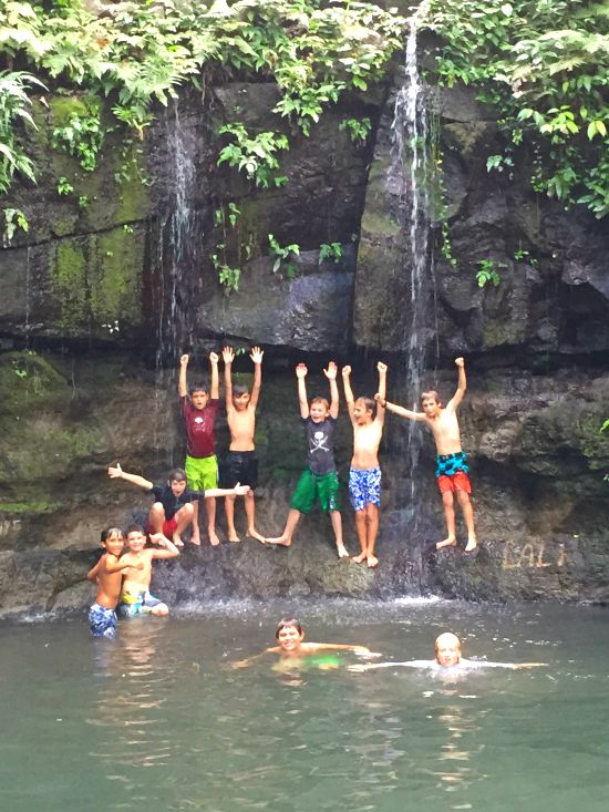 Llanos Cortez Waterfall Hudsons Birthday Boys