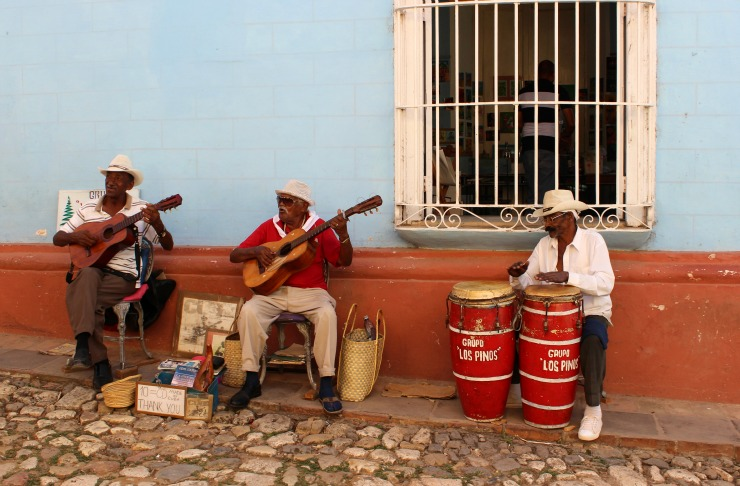 Musicians on the street in Trinidad Cuba Wanderlust Living