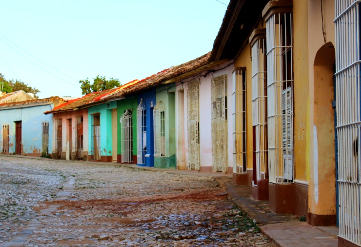 Colorful Buildings Strees of Trinidad Cuba