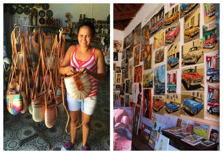 Shopping local artists in Trinidad Cuba Wanderlust Living