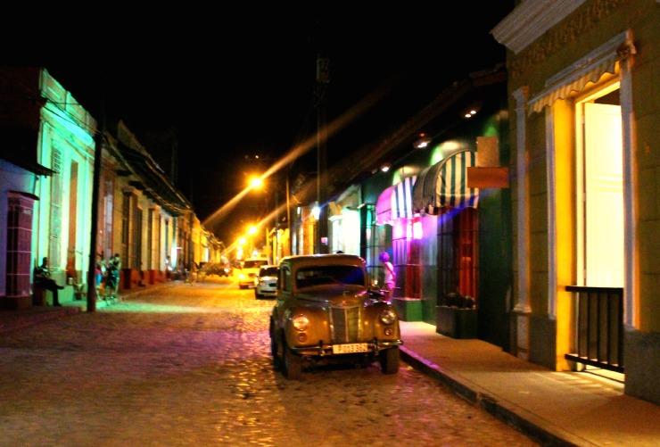 Trinidad Cuba at night street scene Wanderlust Living