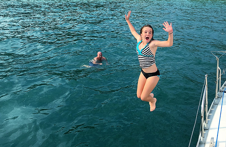 Serendipity Charters Mckenna Jumping Sailing Costa Rica Wanderlust Living